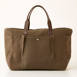 Bradley Canvas Zip Tote - Brown