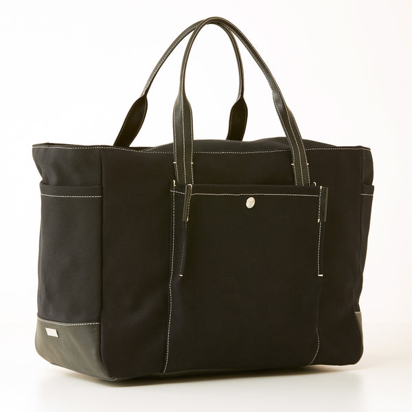 Bradley Zip Tote - Black Canvas