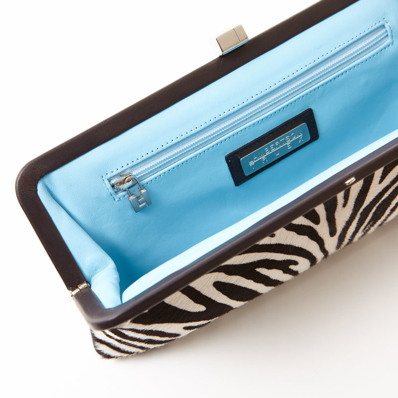 182 Framed Clutch - Zebra Print