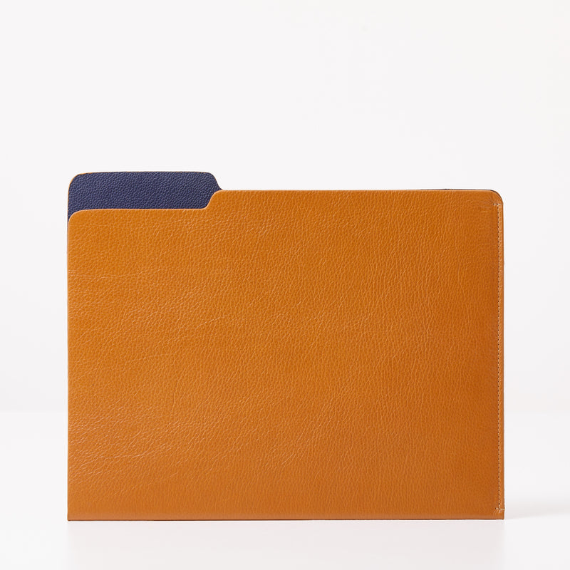 Leather Folder - Camel