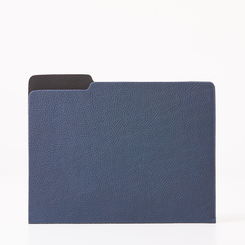 Leather Folder - Navy
