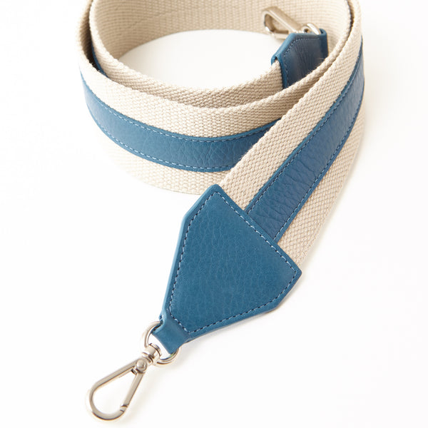 Cotton Webbing Shoulder Strap - Denim
