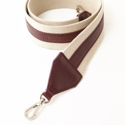 Cotton Webbing Shoulder Strap - Burgundy