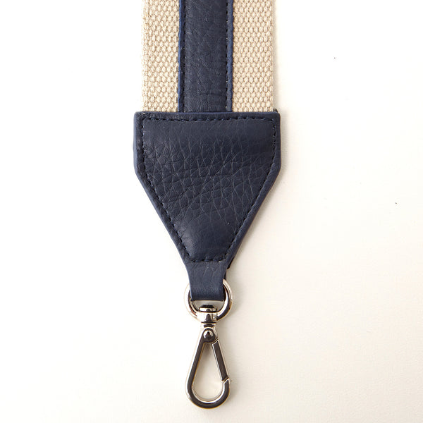 Cotton Webbing Shoulder Strap - Navy