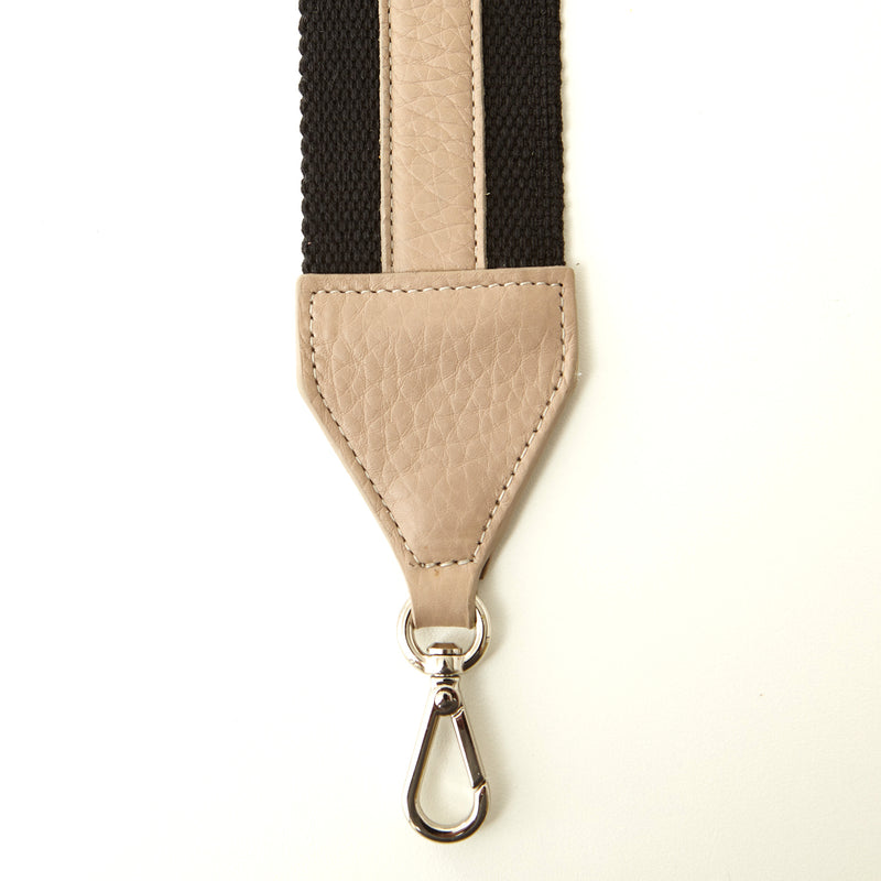 Cotton Webbing Shoulder Strap - Stone