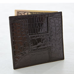 LT Card Case - Black Crocodile