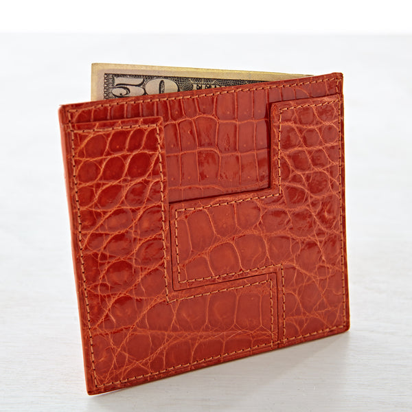 LT Card Case - Clementine Crocodile