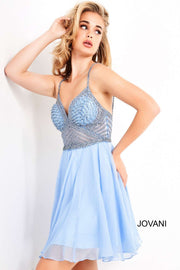 Light Blue Embellished Bodice Homecoming Dress Jovani 00541 - Morvarieds Boutique