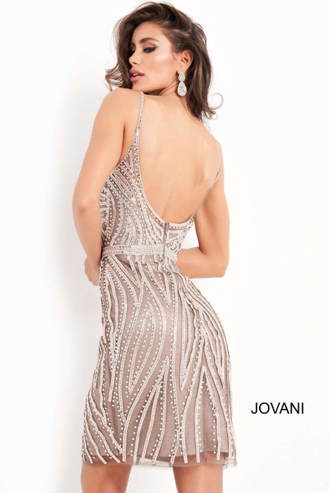 Fitted Embellished Homecoming Dress Jovani 04510 - Morvarieds Boutique