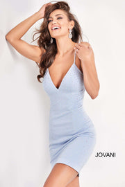 Fitted Spaghetti Strap Homecoming Dress Jovani 05513 - Morvarieds Boutique