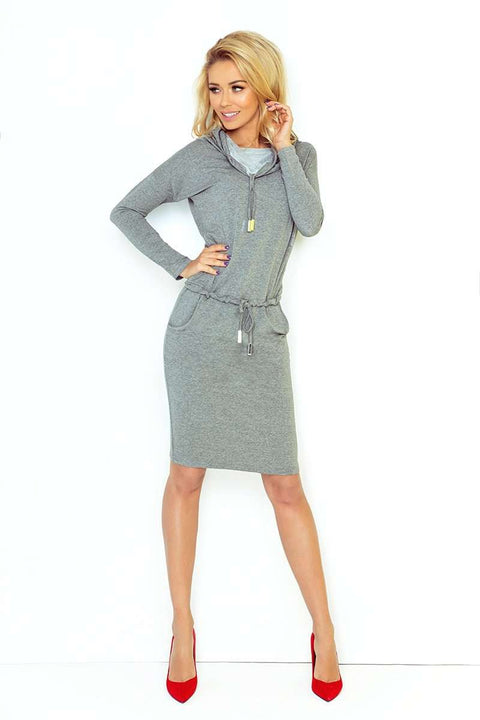 Sports Dress with Binding - gray 44-2 - Morvarieds Boutique