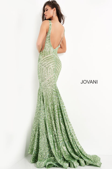Sparkly Formal Dress | Sequin Embellished Dress Jovani 59762 - Morvarieds Boutique