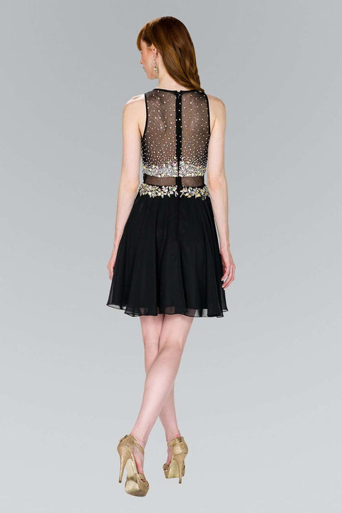 GS2401 Elizabeth K Cocktail Dress Beads Embellished Bodice - Morvarieds Boutique