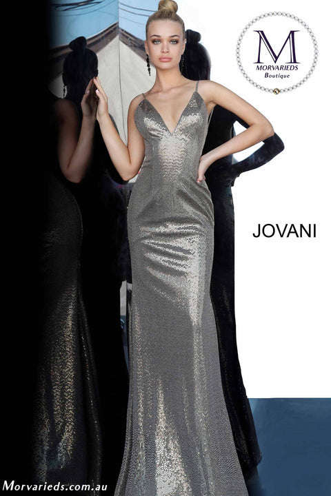 Metallic Dress | Backless Metallic Prom Dress Jovani 2811 - Morvarieds Boutique