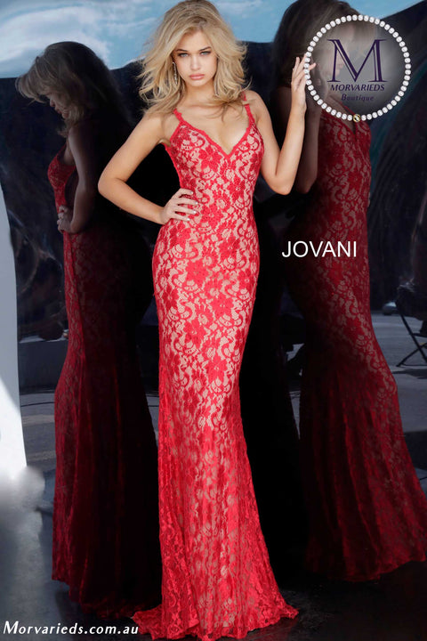 Embellished Prom Dress | Backless Lace Prom Dress  Jovani 00782 - Morvarieds Boutique