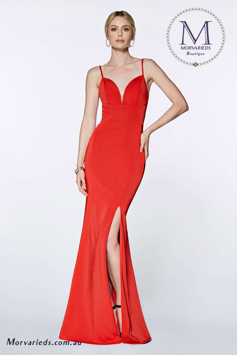 Evening Gown | Fitted sweetheart neckline with leg slit and open back - Morvarieds Boutique