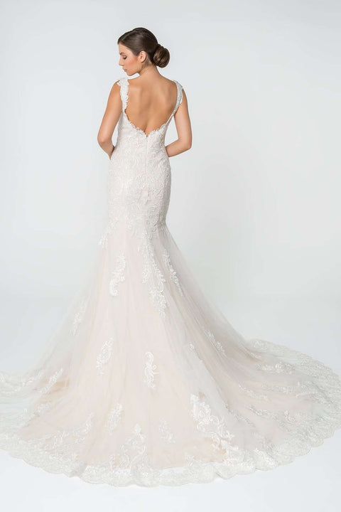 GL2819 Wedding Dress, Lace and Jewel Embellished Mermaid Wedding Gown - Morvarieds Boutique