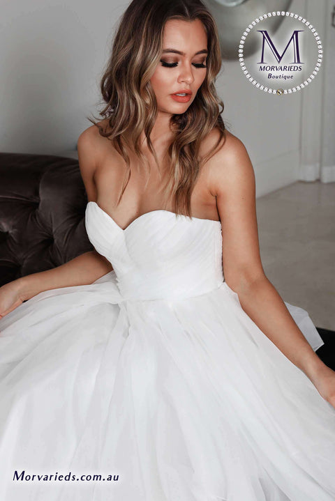 A Line Wedding Dress | Jadore Bridal Dress W104 - Morvarieds Boutique