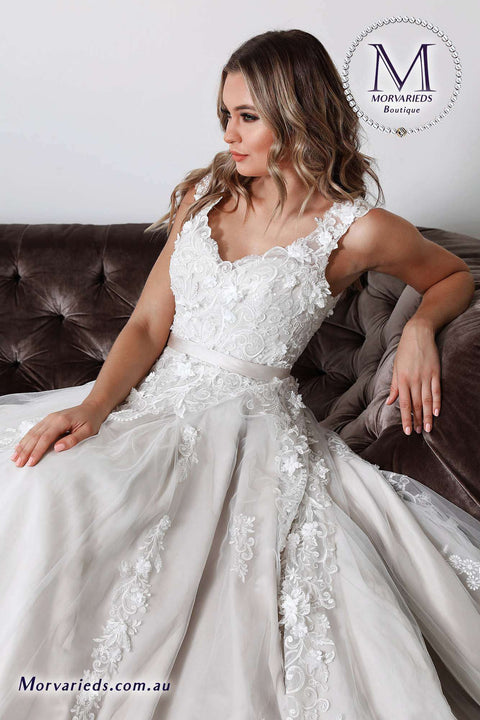 Simple White Wedding Dress | Jadore Bridal Dress W108 - Morvarieds Boutique