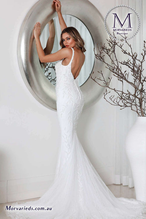 Fit and Flare Wedding Dress | Jadore Bridal Dress W111 - Morvarieds Boutique