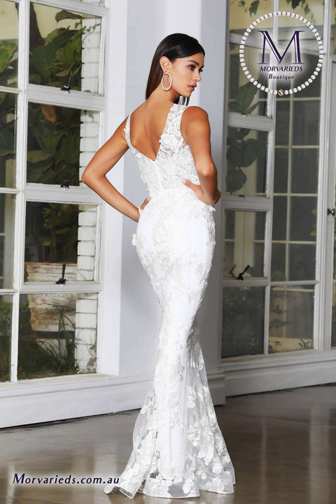 Lace Wedding Guest Dress | Jadore Dress JX4063 - Morvarieds Boutique