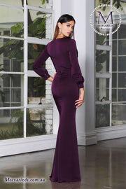 Evening Gown With Long Sleeves | Jadore Dress JX4068 - Morvarieds Boutique