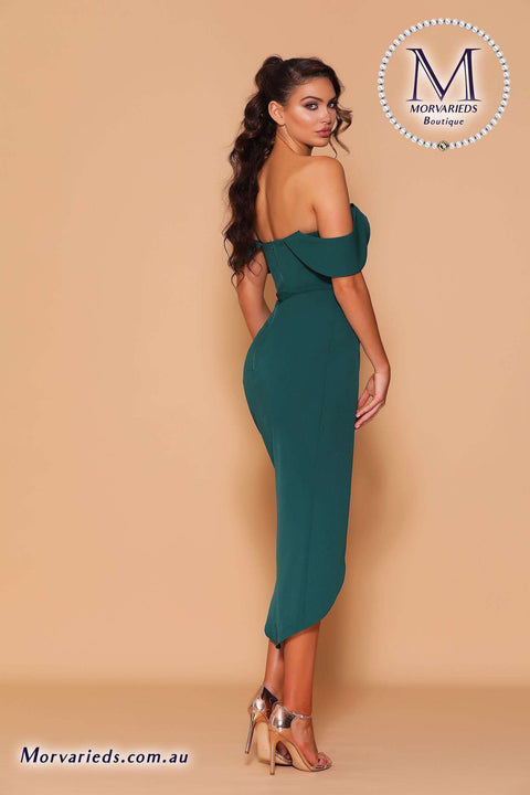 Off Shoulder Draped Sleeve Dress | Jadore Les Demoiselle LD1119 Dress - Morvarieds Boutique
