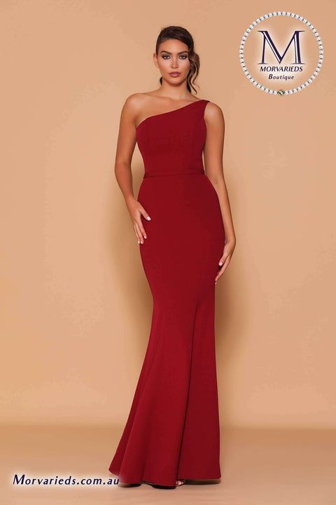 One Shoulder Gown | Jadore Les Demoiselle LD1121 Dress - Morvarieds Boutique