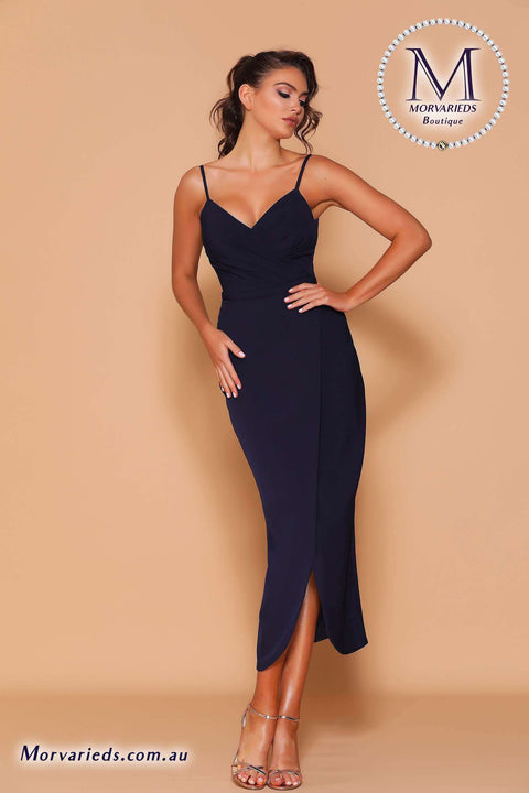 Slinky Wrap Midi Dress | Jadore Les Demoiselle LD1126 Dress - Morvarieds Boutique