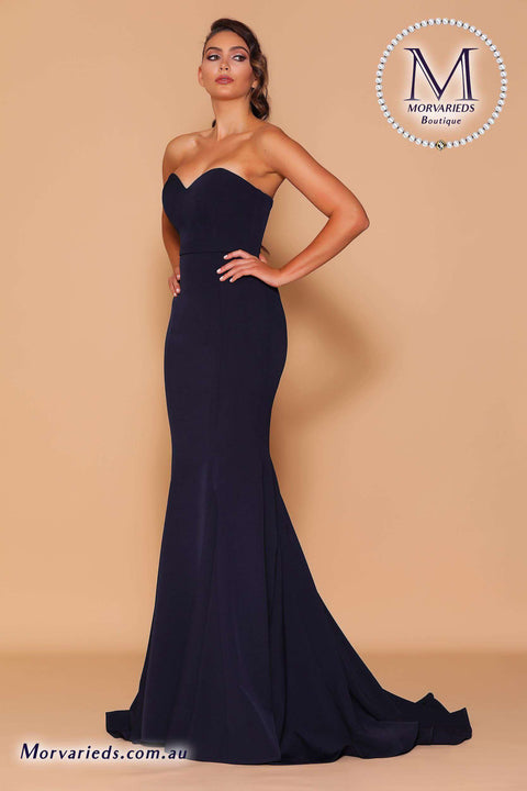 Strapless Navy Dress | Jadore Les Demoiselle Dress LD1134 - Morvarieds Boutique