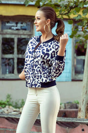 280-1 Blouse with a zip - panther - Morvarieds Boutique