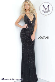 Beaded Dress | Black Sexy Prom Dress Jovani 1114 - Morvarieds Boutique