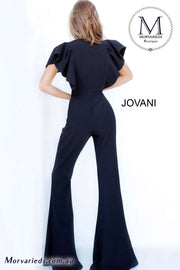 Black Jumpsuit  | Short Sleeve Jumpsuit Jovani 00762 - Morvarieds Boutique