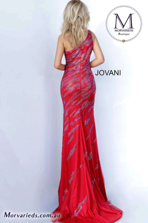 Floor Length Dress  | One Shoulder Prom Dress Jovani 00685 - Morvarieds Boutique