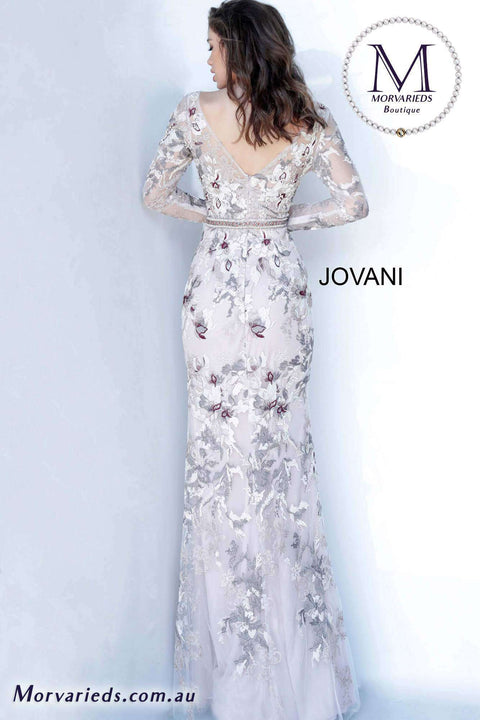 Embroidered Dress  | Floral Evening Dress Jovani 00818 - Morvarieds Boutique