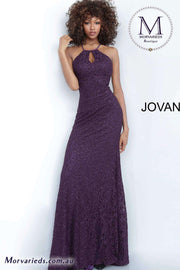 Purple Prom Dress | Lace Fitted Prom Dress Jovani 4032 - Morvarieds Boutique