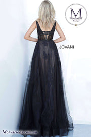 Black Formal Gown  | Sleeveless A Line Prom Gown Jovani 1025 - Morvarieds Boutique
