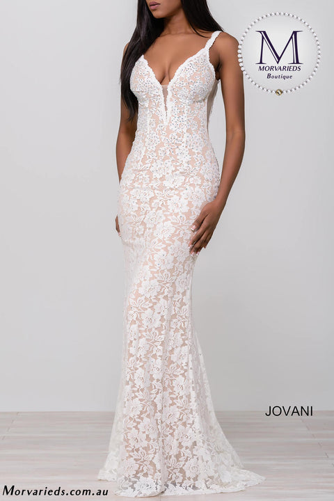 Lace Prom Dress | Emerald Lace Fitted Jovani Prom Dress 48994 - Morvarieds Boutique