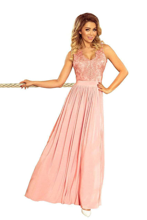 Long Sleeveless Maxi Dress Pastel Pink - Morvarieds Boutique