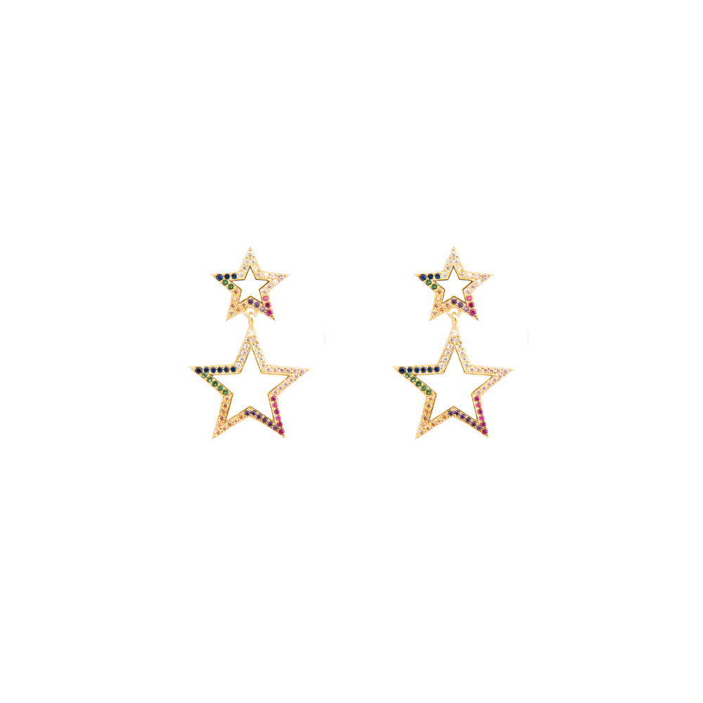 Arete Star Dangle Rainbow