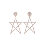 Arete Big Star Rose Gold