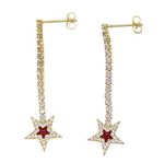 Arete Cz Star Red