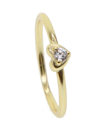 Anillo Heart Band Gold