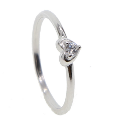 Anillo Heart Band Silver