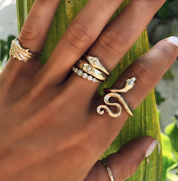 Anillo Big Snake Gold