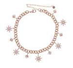 Collar Chain Stars Rose Gold