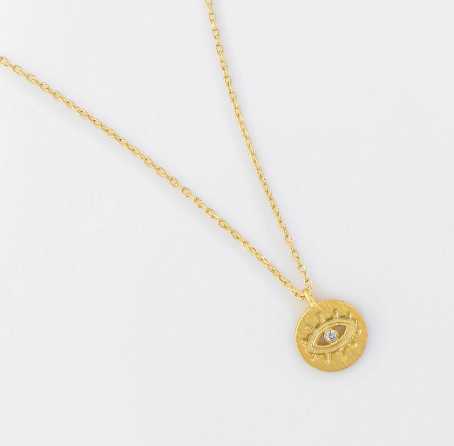 Eye Gold Necklace