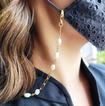 3 in 1 pearl chain necklace. (Pre-Order)