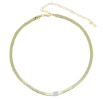 Choker Necklace - White Stone