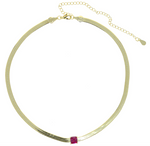 Choker Necklace - Red Stone